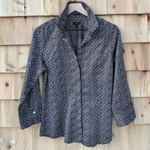 Women's Talbots brown design buttoned blouse-12